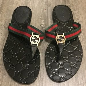 Authentic Gucci 'GG' Thong Sandal (Flip flop)